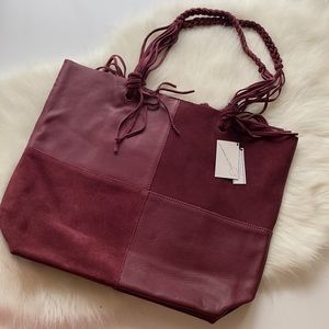 Free People • Sundown Wilds Suede Leather Tote